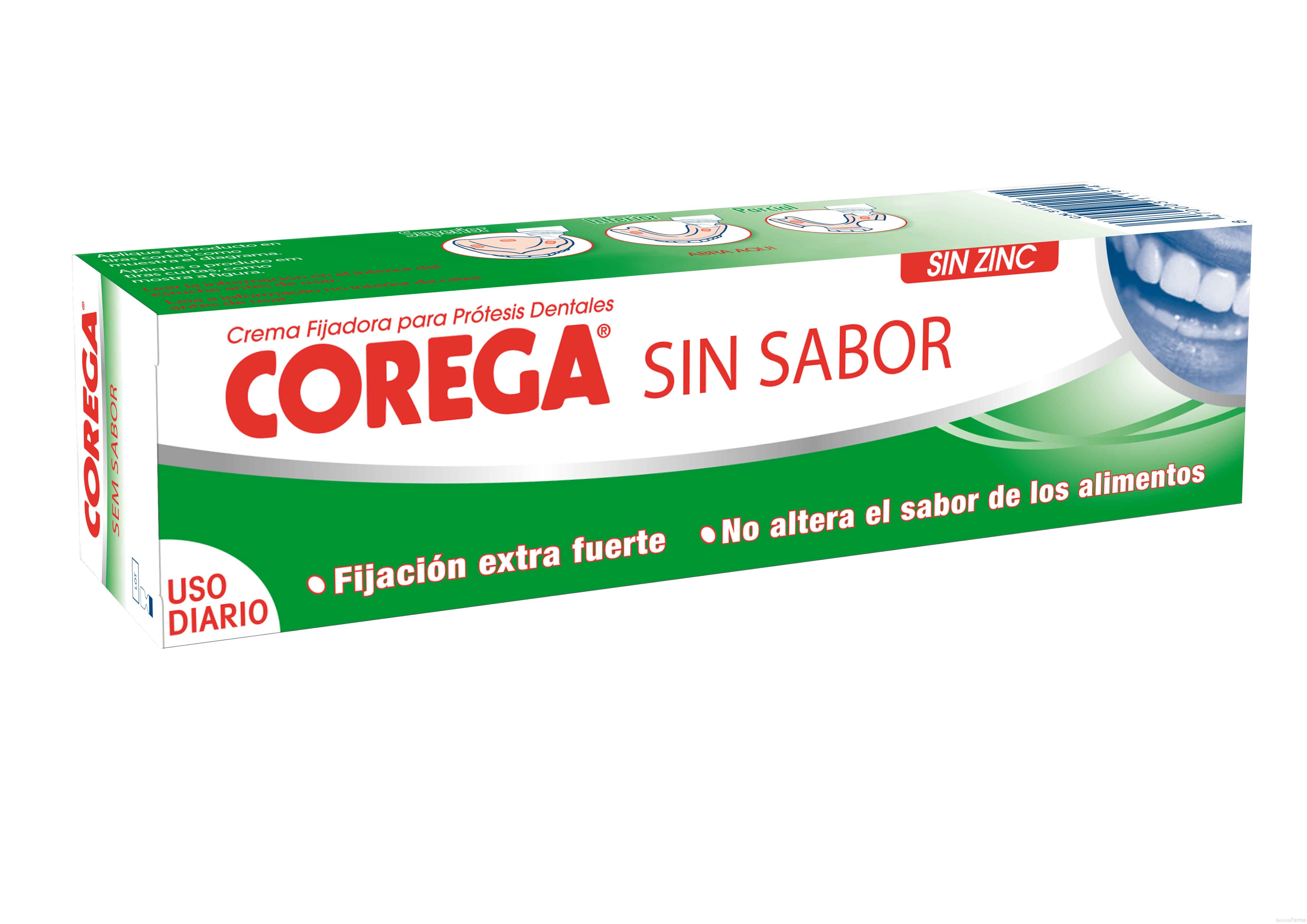 Corega Crema Fijadora Sin Sabor 40 g