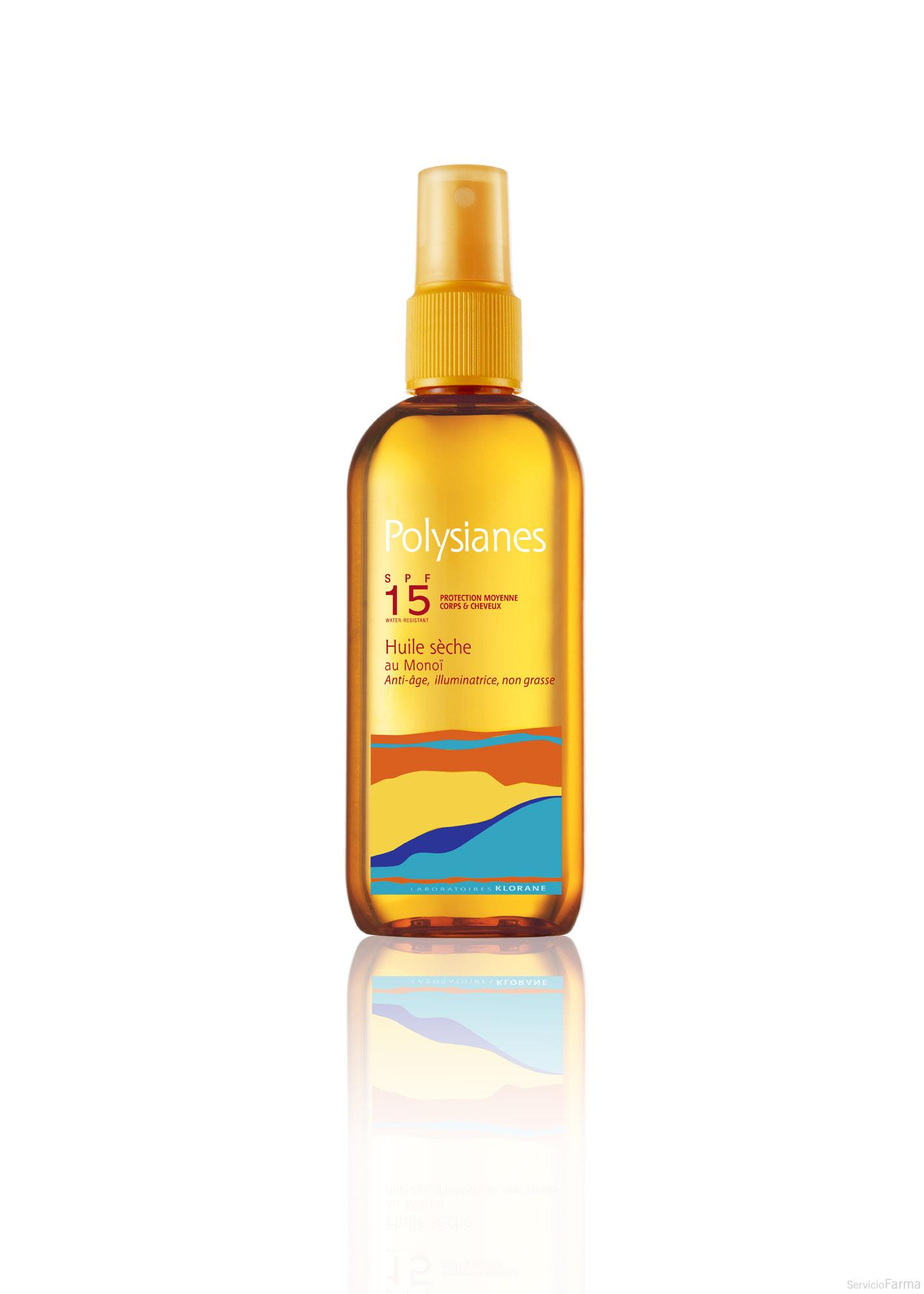 Aceite Seco al Monoï SPF15 - Polysianes (150 ml)