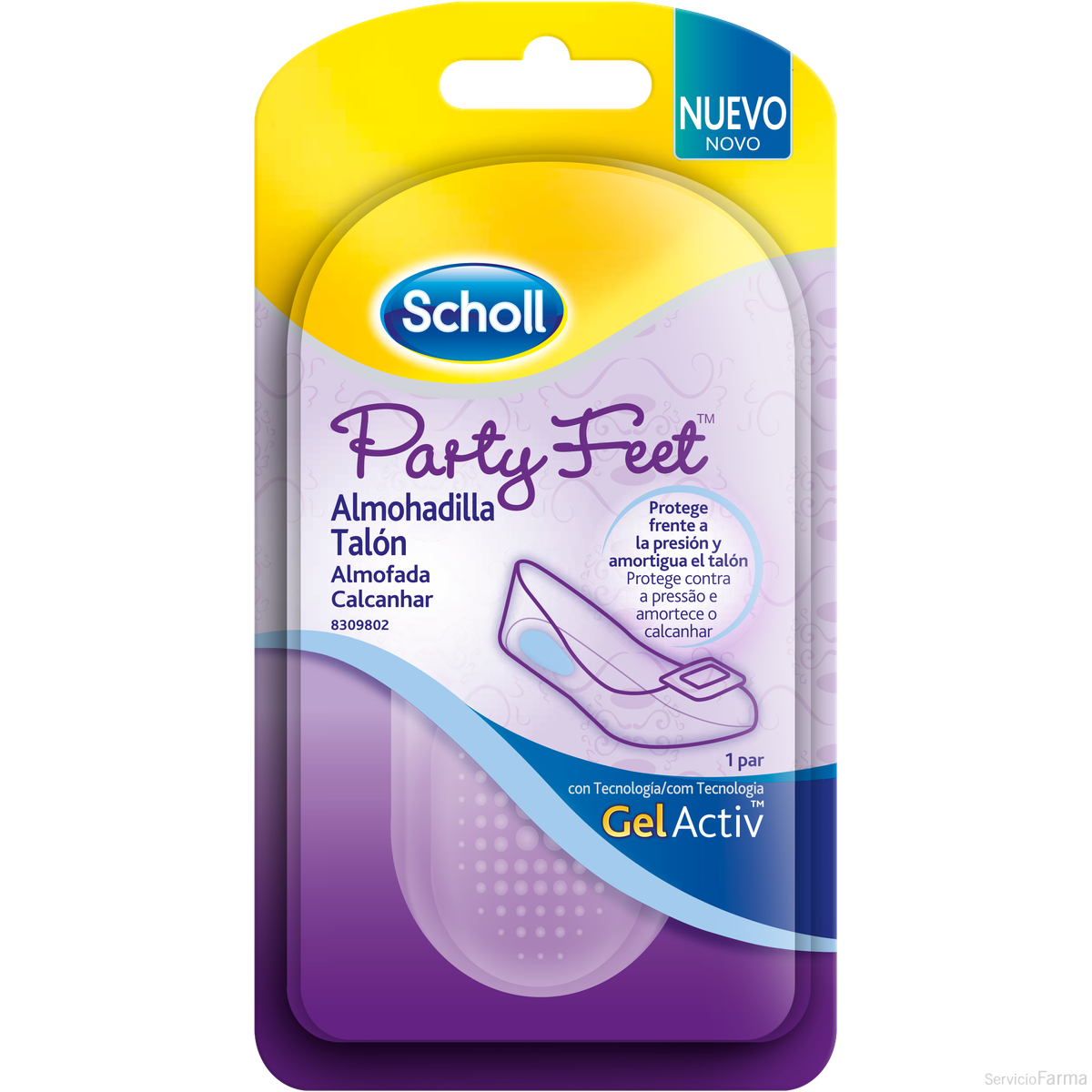 Party Feet / Almohadilla talón Gel Activ - Scholl (1 par)