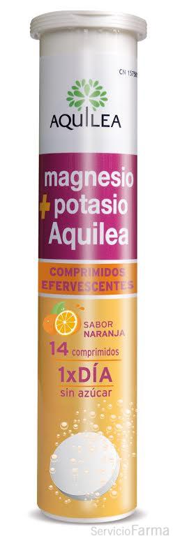 Magnesio + Potasio Sabor Naranja - Aquilea (14 comp. efervescentes)