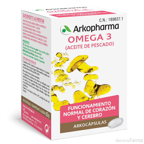 Arkocápsulas / Omega 3 - Arkopharma (100 cápsulas)