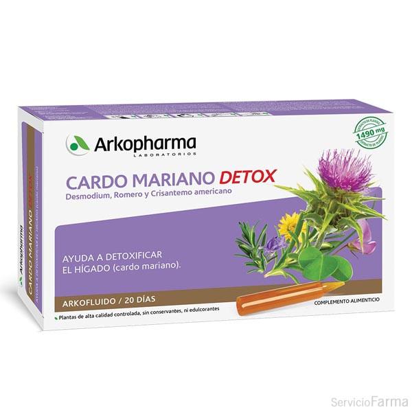 Arkofluido Cardo Mariano Detox 20 ampollas / Arkopharma