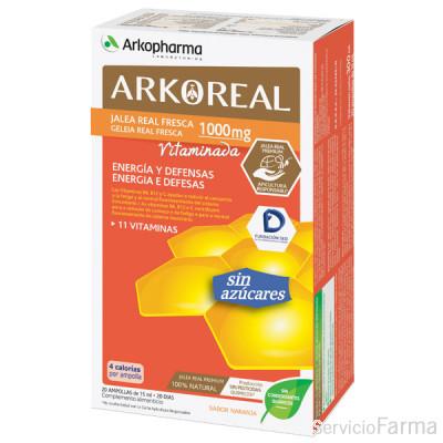 Arkoreal Jalea Real Vitaminada sin azúcares 20 ampollas Arkopharma