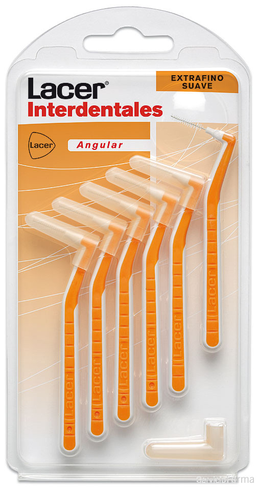 Lacer Cepillo Interdental Extrafino suave Angular 0,5 6 unidades