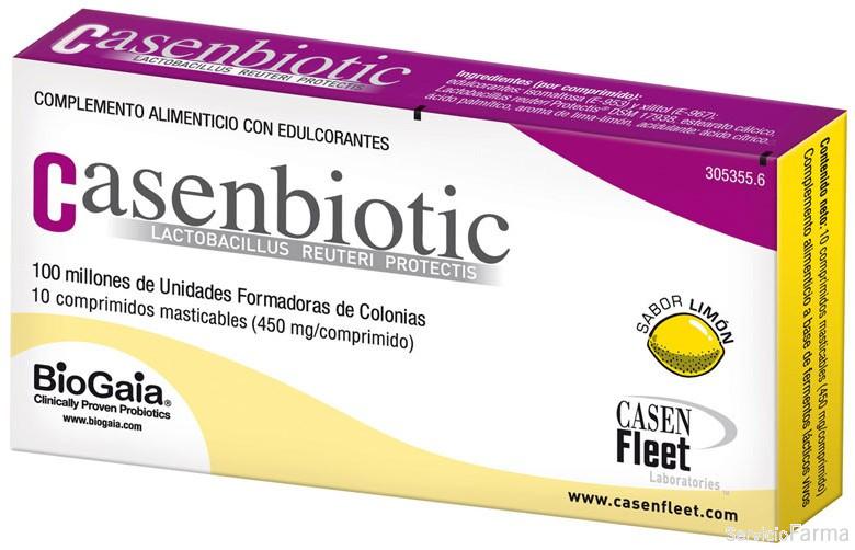Casenbiotic Sabor Limón 10 Comprimidos Masticables