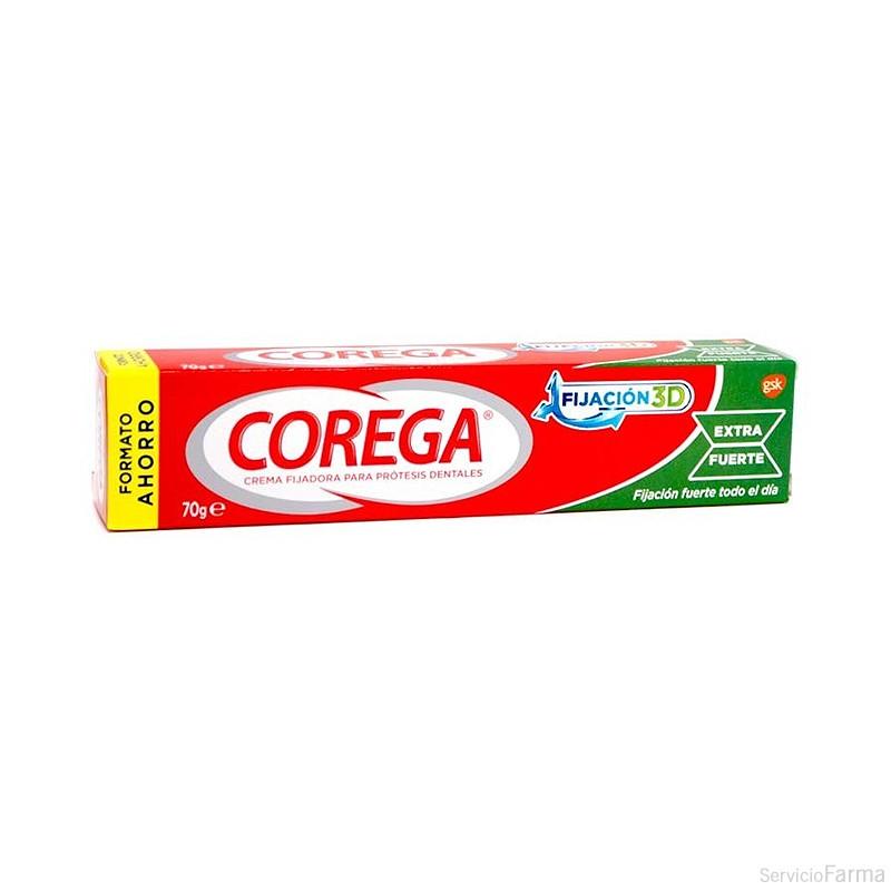 Corega Extra Fuerte Crema Fijadora Prótesis Dentales 70 g