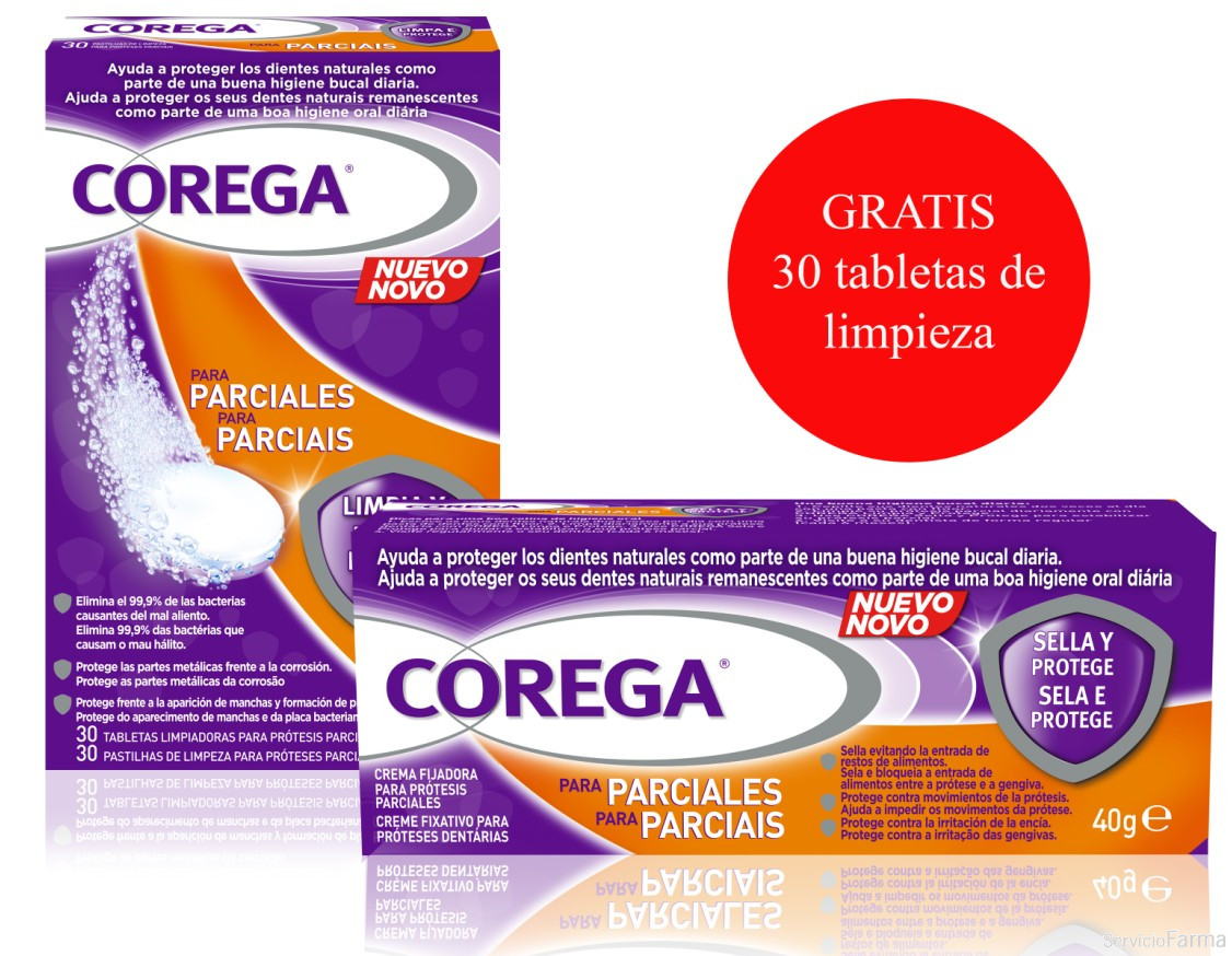 Corega Crema Fijadora para Prótesis Parciales 40 g