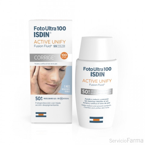 Foto Ultra 100 Active Unify Fusion Fluid SPF100 - Isdin (50 ml)