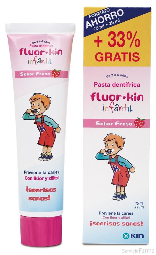 FluorKin Pasta Dentífrica sabor fresa 75 ml