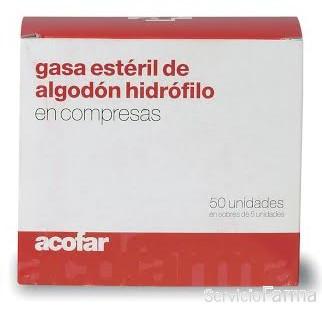 Acofar Gasa Estéril de Algodón Hidrófilo - 50 uds