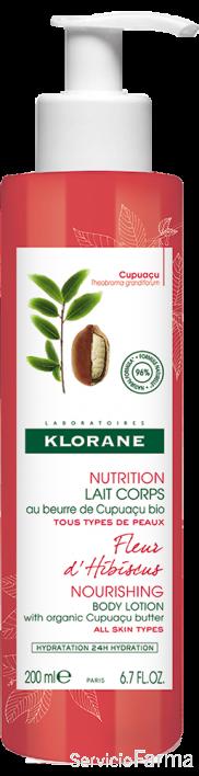 Klorane Leche corporal Manteca de Cupuaçu Flor de Hibisco 400 ml