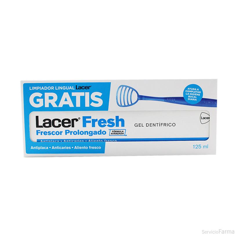 Lacer Fresh Gel Dentífrico 125 ml + REGALO Limpiador lingual