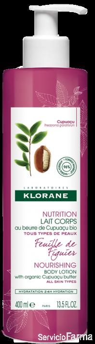 Klorane Leche corporal Manteca de Cupuaçu Hoja de Higuera 400 ml