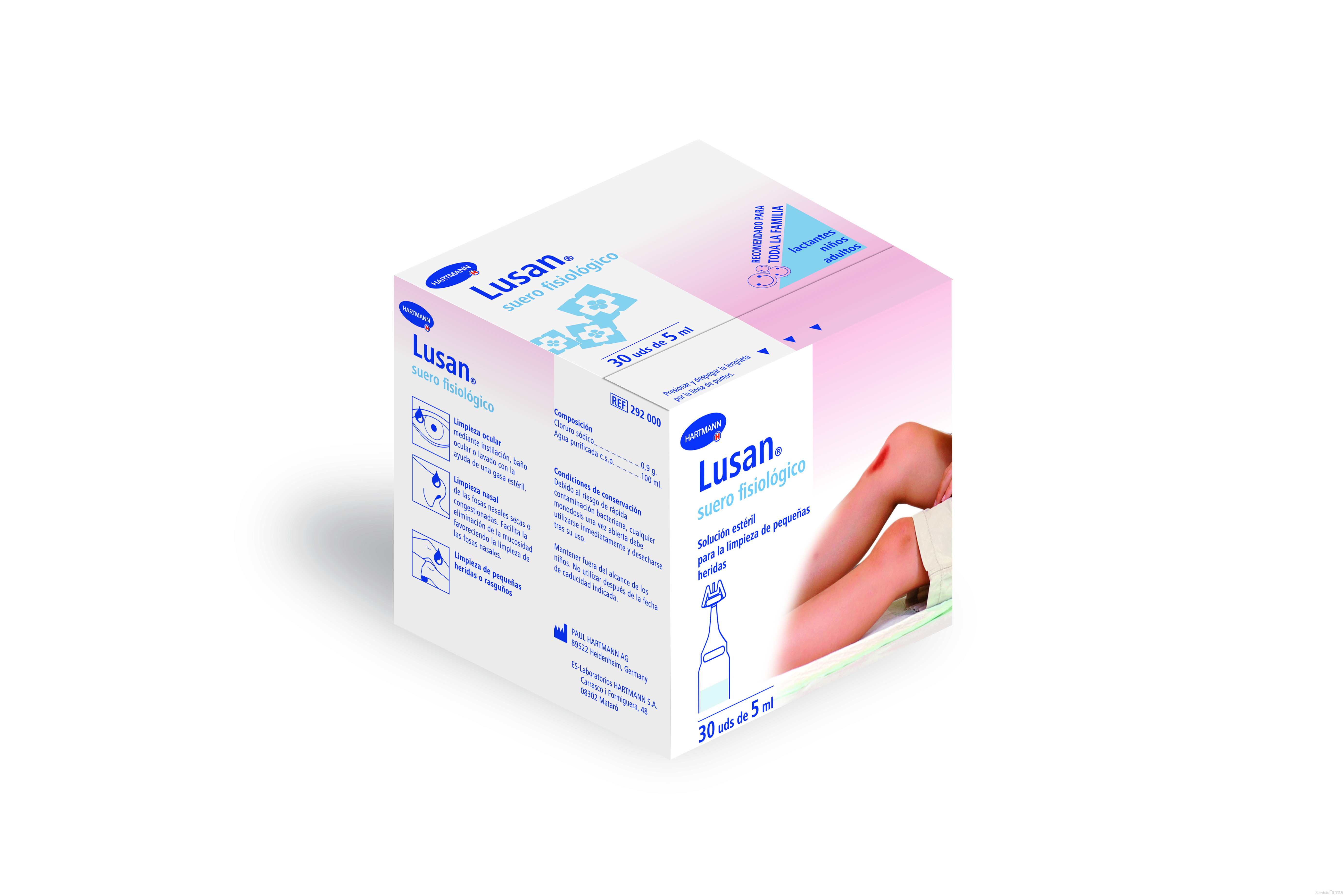 Hartmann Suero Fisiológico Lusan 30 Ud de 5 ml