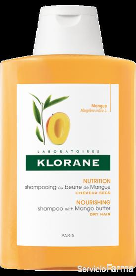 Klorane Champú Manteca de Mango Cabellos secos 400 ml
