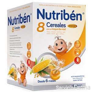Nutriben 8 Cereales con Miel + Fibra 600 g