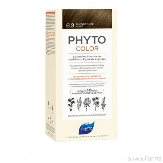 Phytocolor Tinte sin amoniaco / 06.3 RUBIO OSCURO DORADO