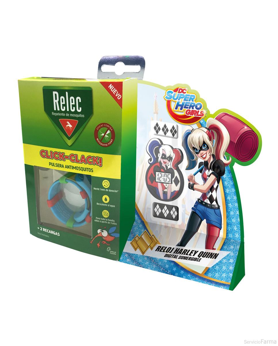 Relec / Pulsera antimosquitos Click-Clack + REGALO reloj Harley Quinn