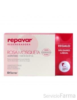 Repavar Rosa mosqueta Aceite puro + REGALO Bálsamo labial