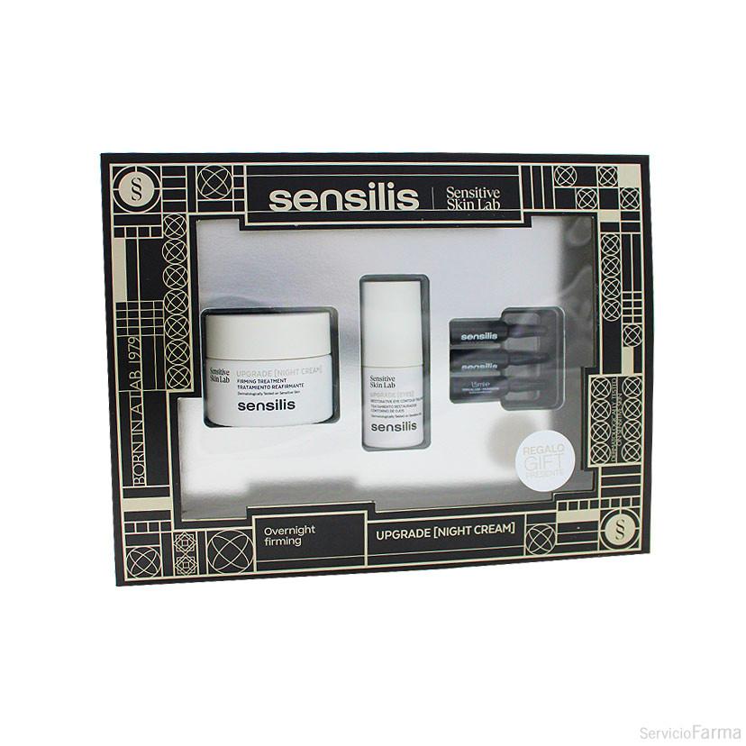 Sensilis Upgrade Crema Noche 50 ml + REGALO Upgrade Ojos + REGALO Upgrade Ampollas