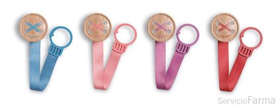Suavinex broche con cinta Button +0m 1 unidad