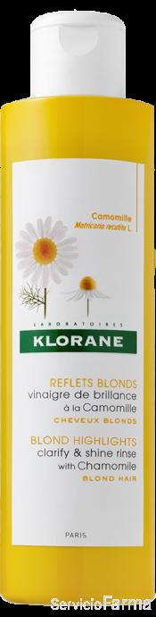Klorane Vinagre de brillo Camomila para cabello rubio 200 ml