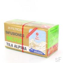 Milvus Tila Alpina Infusión 20 filtros