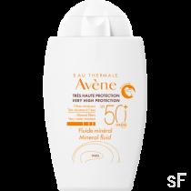 Avene Fluido Mineral SPF50+ Pieles intolerantes 40 ml