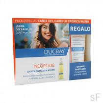 Ducray Neoptide Loción Anticaída Mujeres Caída crónica 3 x 30 ml + REGALO