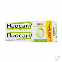 Fluocaril Bi-Fluore Pasta Dentífrica anticaries Sabor Menta 2 x 125 ml