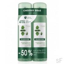 Duplo Klorane Champú Seco Seborreductor con Ortiga 2 x 150 ml