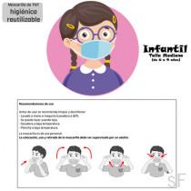 Mascarilla Lavable Infantil Talla M