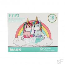 Mascarillas infantiles FFP2 Alto rendimiento 10 uds