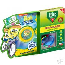 Relec Pulsera Antimosquitos Click Clack + Regalo Bob Esponja Ciclismo