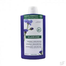 Klorane Champú Centaurea BIO Antiamarilleo Cabellos grises y rubios 400 ml