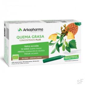 Arkofluido Quema Grasa Concentrado Plus 20 ampollas / Arkopharma