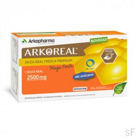 Arkoreal Jalea Real Fresca Premium Mega Forte 2500 mg SIN AZÚCAR 20 ampollas Arkopharma