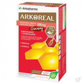 Arkoreal Jalea Real Fresca 500 mg + Ginseng 20 Ampollas Arkopharma