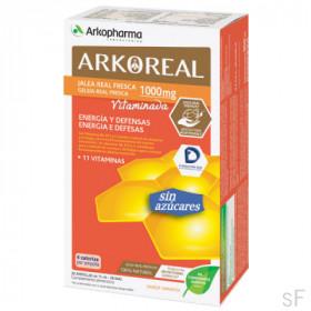 Arkoreal Jalea Real Fresca 1000 mg Vitaminada sin azúcares Energía y Defensas 20 ampollas Arkopharma