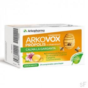 Arkovox Própolis + Vitamina C Sabor Menta 24 comprimidos / Arkopharma