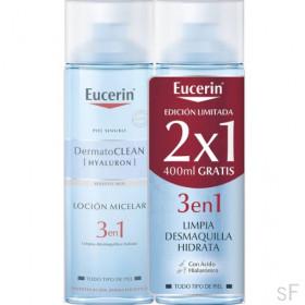 2x1 Eucerin DermatoClean Solución micelar 3 en 1 400 ml