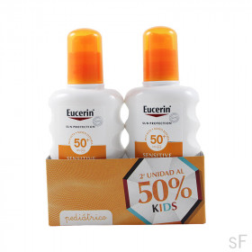 Duplo Eucerin Sensitive Protect Kids Sun Spray SPF50+ 2 x 200 ml