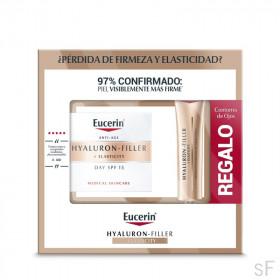Eucerin Hyaluron Filler + Elasticity Crema de dia SPF15 + REGALO Contorno de Ojos