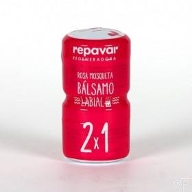 OFERTA Repavar Bálsamo labial Rosa Mosqueta SPF15 2x1