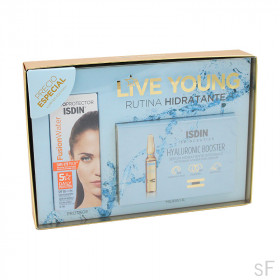 Pack Isdinceutics Live Young Fusion Water + Hyaluronic Booster Rutina Hidratante