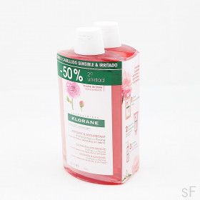 Duplo Klorane Champú Peonía 2 x 400 ml