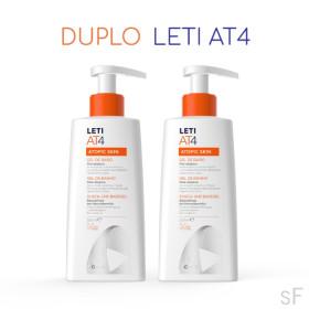 Duplo Leti AT4 Gel de baño Piel atópica 2 x 250 ml