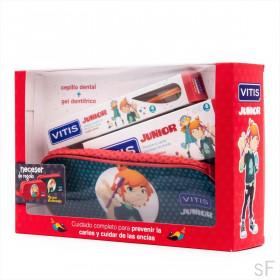 Pack Vitis Junior Cepillo + Gel + Neceser