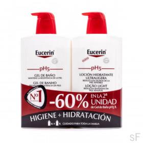 Pack Eucerin  pH5 Gel de baño + Loción Ultraligera