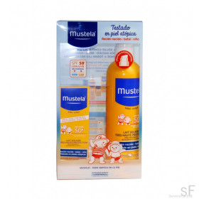 Pack Mustela Solar Facial + Spray Corporal  SPF50+